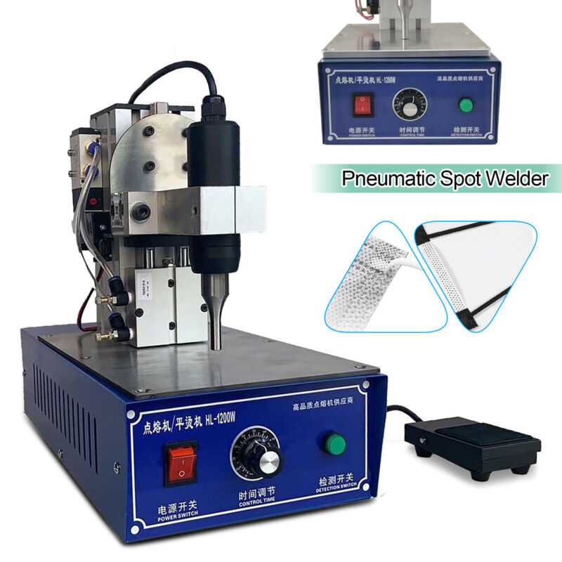 28KHz Ultrasonic Spot Welding Machine Adjustable Welder Sealler 1.2KW 500pcs/H
