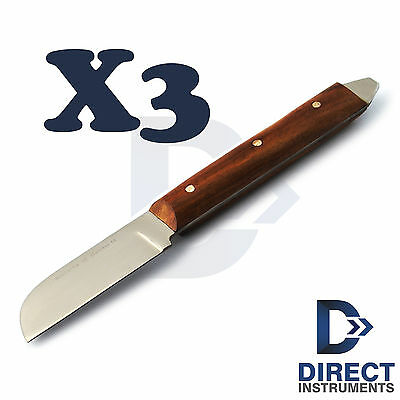 3pcs Dental Plaster Alginate Knife Cutting Knives Waxing Modelling Rigid Spatula