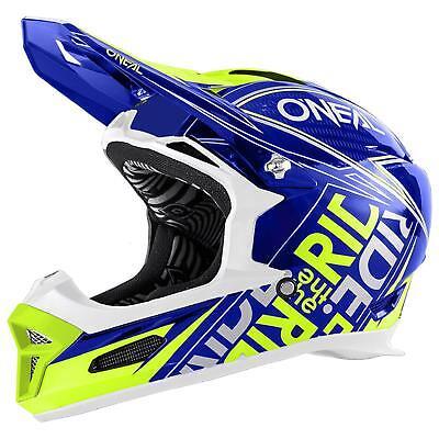 ONeal Fury RL Helm Fuel Blau Gelb DH FR MTB Downhill Fahrrad Mountainbike Trail