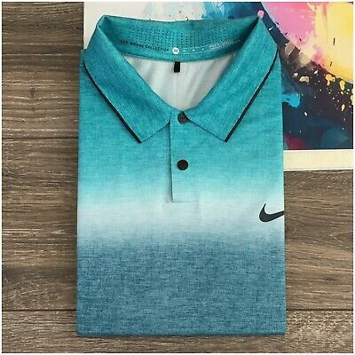 Tiger Woods Collection Men's Golf Polo Shirt Nike Snap Vented Short Sleeve