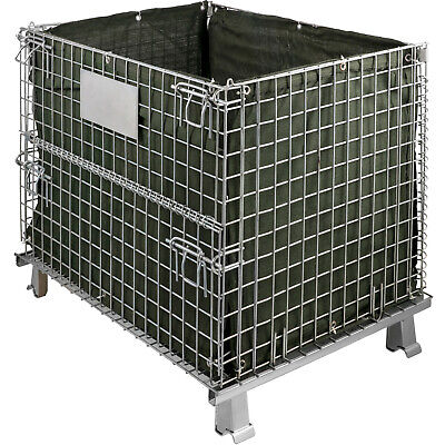 Wire Collapsible Container Collapsible Wire Container With Casters 32inch Length