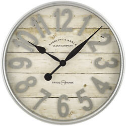 Better Homes and Gardens Farmhouse Plank with Galvanized Finish Wall Clock