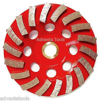 4.5 Spiral Turbo Concrete Diamond Grinding Cup Wheel 18 Segs 78-58 Arbor