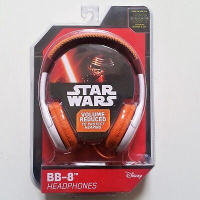 eKids Disney BB-8(TM)Star Wars Headphones W' Built In Volume Limiter Orange New