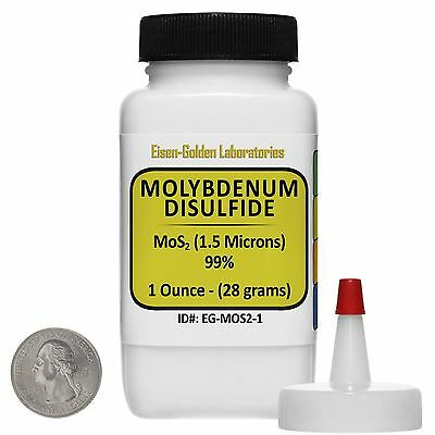 Molybdenum Disulfide Mos2 99 Ar Grade Powder 1 Oz In A Space-saver Bottle Usa