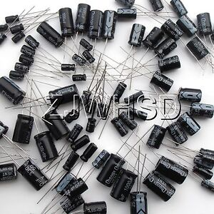 1uF-2200uF-25-value-125pcs-Electrolytic-Capacitors-Assortment-Kit-Assorted-Set