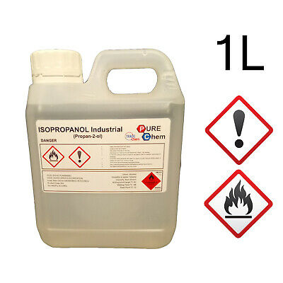 ISOPROPANOL Alcohol Isopropyl PURE 99.9% LAB GRADE Jerry Container 1L