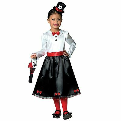 Girls Victorian Nanny Poppins Book Week Mary Kids Parrot Fancy Dress Up Costume](Kids Victorian Dress Up)