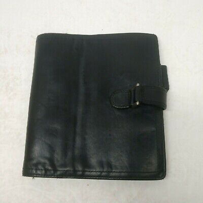 Franklin Covey Compact Black Nappa Leather Unstructured Cover Planner Usa Made