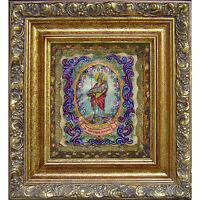 1 - S. Gregorio Reliquario Santino Dipinto A Mano Pergamena Gesù Madonna Bibbia -  - ebay.it