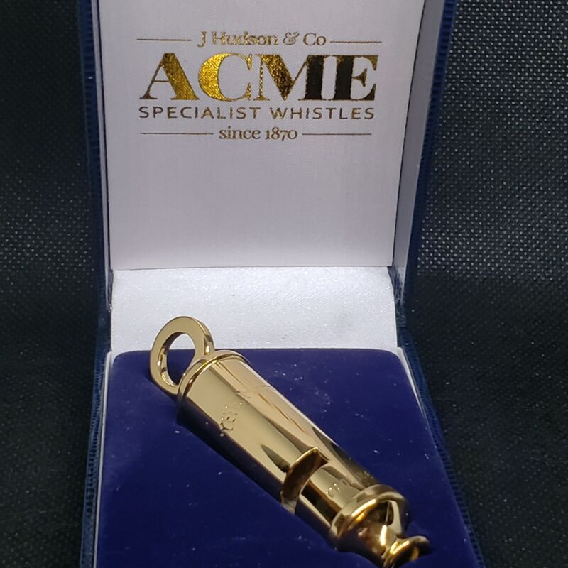 Acme Factory Gold Plated Metropolitan Police Emergency Whistle With Swivel