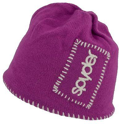 Spyder Fleece Beanie (SPYDER 3986 WOMENS SPYDER BUG HAT SKI SNOWBOARD FLEECE LINED WINTER BEANIE LID )