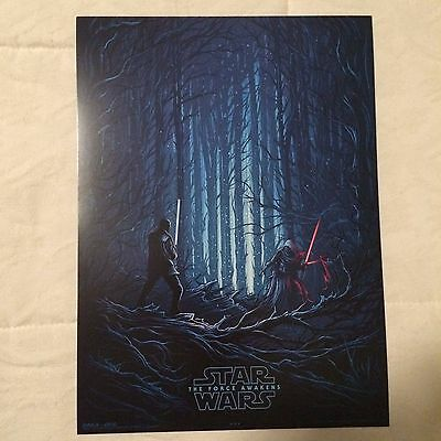 STAR WARS: THE FORCE AWAKENS (Kylo Ren & Finn) EXCLUSIVE AMC IMAX 9.5x13