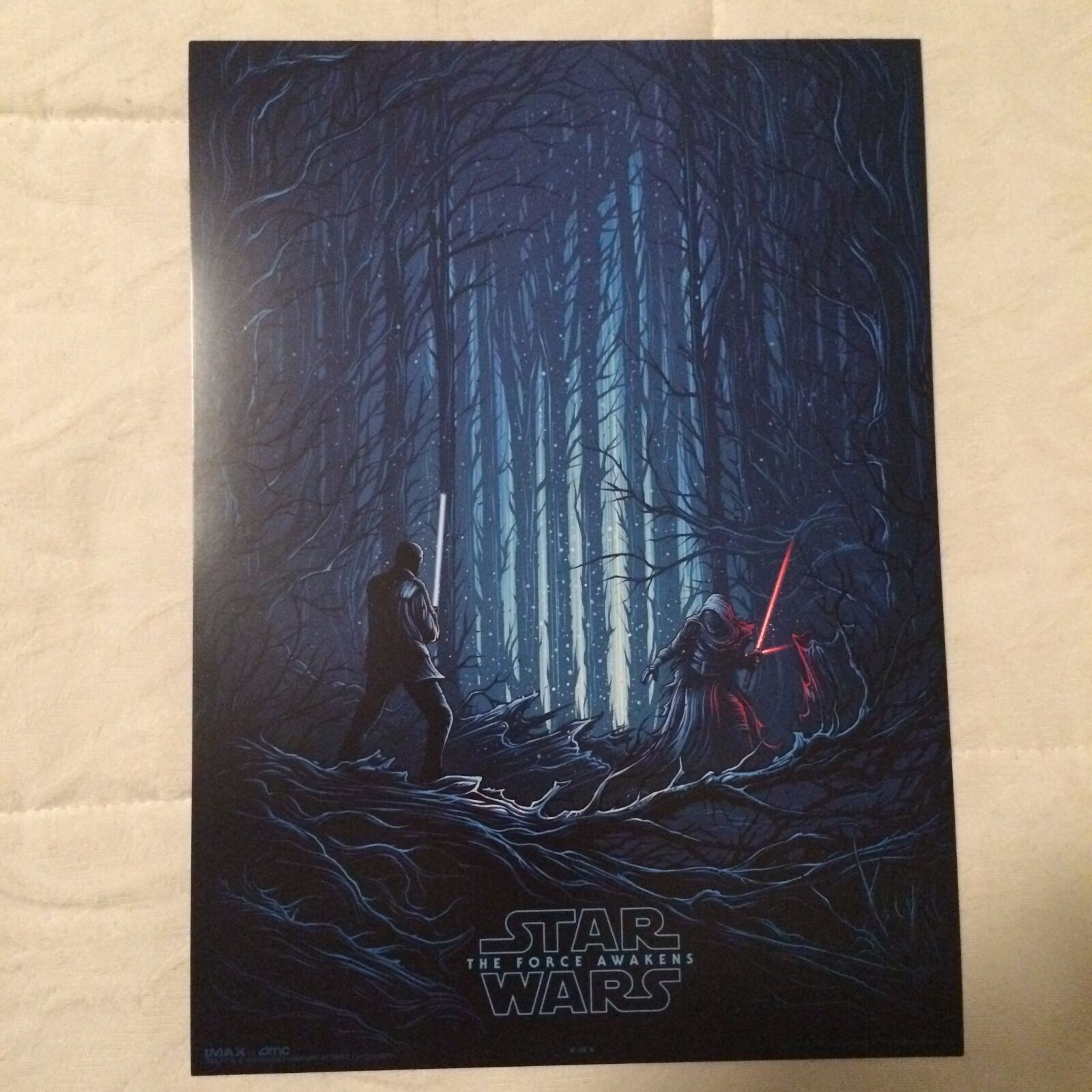 Купить  STAR WARS: THE FORCE AWAKENS (Kylo Ren & Finn) EXCLUSIVE AMC IMAX 9.5x13