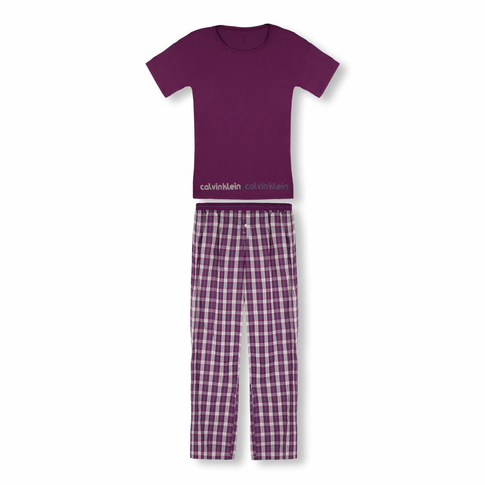 Calvin Klein Damen Pyjamaset lang Schlafanzug S M L