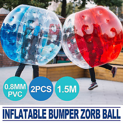 2 Pcs 1 5M 5 Ft Inflatable Body Bumper Ball Zorb Bubble Soccer Adult Kids Us