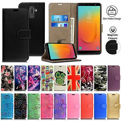 Case For Samsung Galaxy J3 J4 J5 J6 J7 J8 Leather Flip Wallet Phone Stand Cover