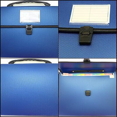 Cypress Lane Expanding File Folders With Handle 13 Pockets Letter Size Blue