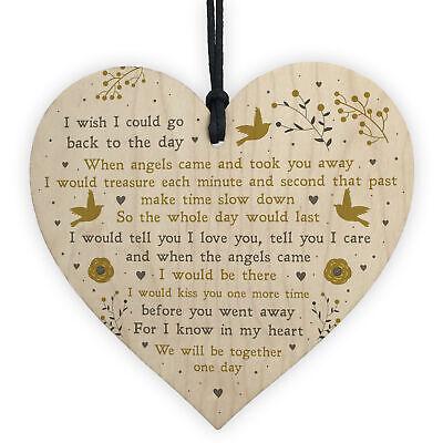 Memorial Gift For Mum Dad Nan Grandad Wooden Heart Christmas Memorial Bauble