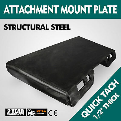 12 Quick Tach Attachment Mount Plate Skid Steer Universal Stump Buckets Newest