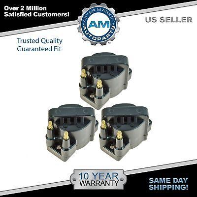 (Ignition Spark Coil Pack Set of 3 Kit for Buick Chevy Cadillac Pontiac V6)