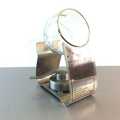 (m65) QUIST Irish Coffee Set mit Rechaud Edelstahl und Glas Brenner  Irish Coffee Glas Set