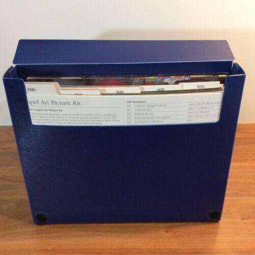 COMPLETE BOX SET Gospel Art Kit Pictures Book Mormon LDS Bible Photo Blue Old