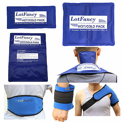 Reusable Hot Cold Gel Ice Pack Heat Therapy Wrap First Aid Kit Back Pain - Heat First Aid