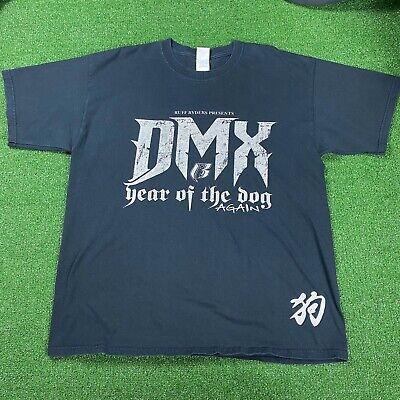 Vintage 2006 DMX Ruff Ryders Rap Hip Hop Year Of The Dog T Shirt Size XL Black
