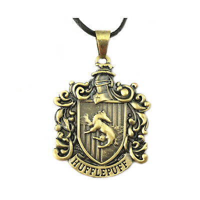 New Harry Potter Hufflepuff Crest Pendant Necklace