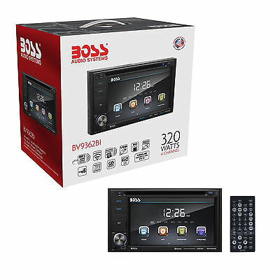 "BOSS BV9362BI Double Din 6.2"" Touchscreen Car DVD Player with Bluetooth & Remote"