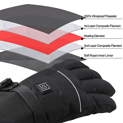 Electric Heated Gloves Thermal Hand Warmer Touchscreen Winter Outdoor Men Women