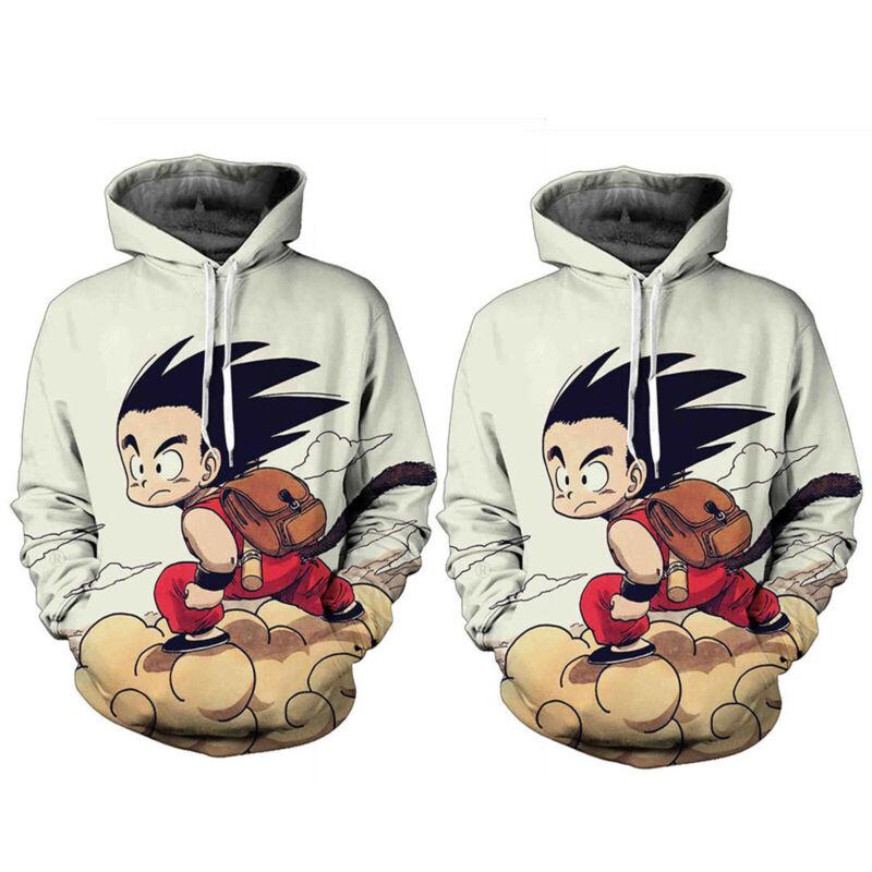 Dragon Ball DBZ Goku Anime Mens Womens Hoodie Tops