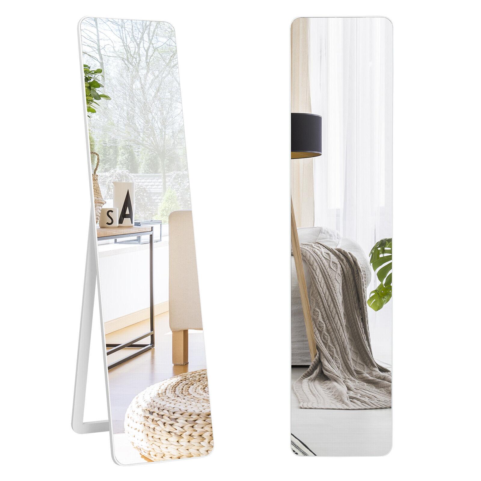 2 in 1 Ganzkörperspiegel Standspiegel&Wandspiegel mit Holzrahmen Ankleidespiegel