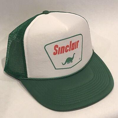 Sinclair Gas Oil Trucker Hat Vintage Style Dino Mesh Snapback Cap Dinosaur Green - Dinosaur Hat