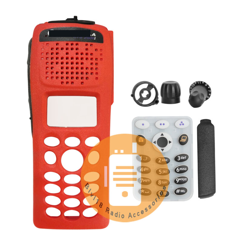 Replacement Refurb Front Case Housing For Motorola XTS2500 Model III Radio Red
