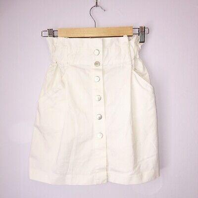 Zara Trafaluc Trf Colloection Women's White Button Down Skirt Size XS