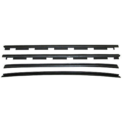 New Set of 4 Inner&Outer Window Sweep Weatherstrip Seals Kit for Chevy C/K Truck