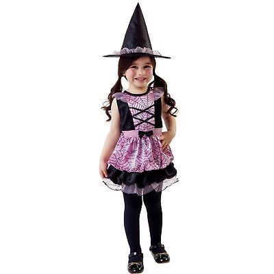 Totally Ghoul Toddler Girl Spider Witch Halloween Costume 2-4 Years - New