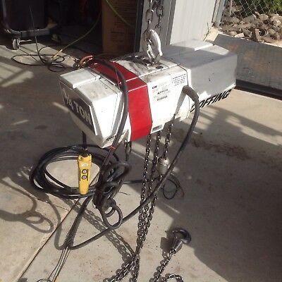 Coffing 14 Ton Eletric Chain Hoist. 115 230 Volts Single Phase. Model Ec0516