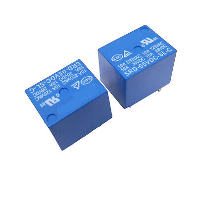 Us Stock 10pcs Mini 5v Dc Songle Power Relay Srd-5vdc-sl-c Pcb Type