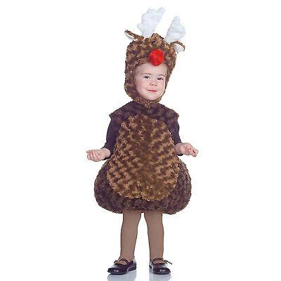 NEW NIP Child Boy or Girl Underwraps Reindeer Halloween Costume Size 4-6