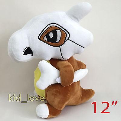 "Pokemon Cubone #104 Plush Soft Toy Stuffed Animal Character Teddy Doll 12"" BIG!!"