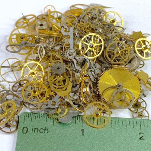 30g Grams Large Watch Part Steampunk Wheels Gears Hands Art Watchmaker Lot Cogs