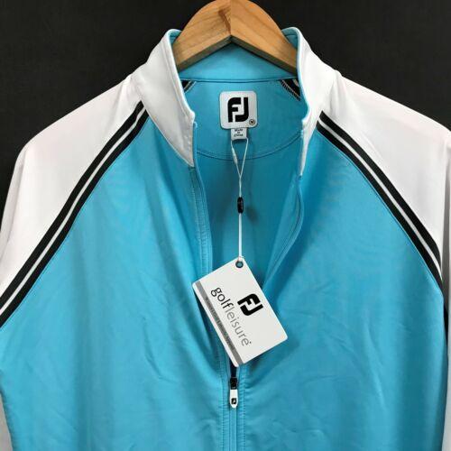 FJ FootJoy Womens Full-Zip Raglan Sleeve Colorblock Golf Jacket Zip-Pockets sz M