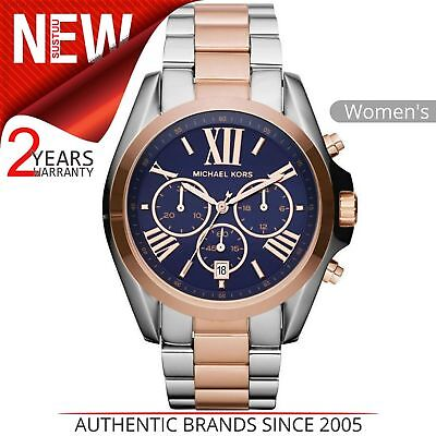 2f2052496768 Michael Kors Bradshaw Women Watch MK5606│Navy Blue Chrono Dial│Two Tone  Bracelet