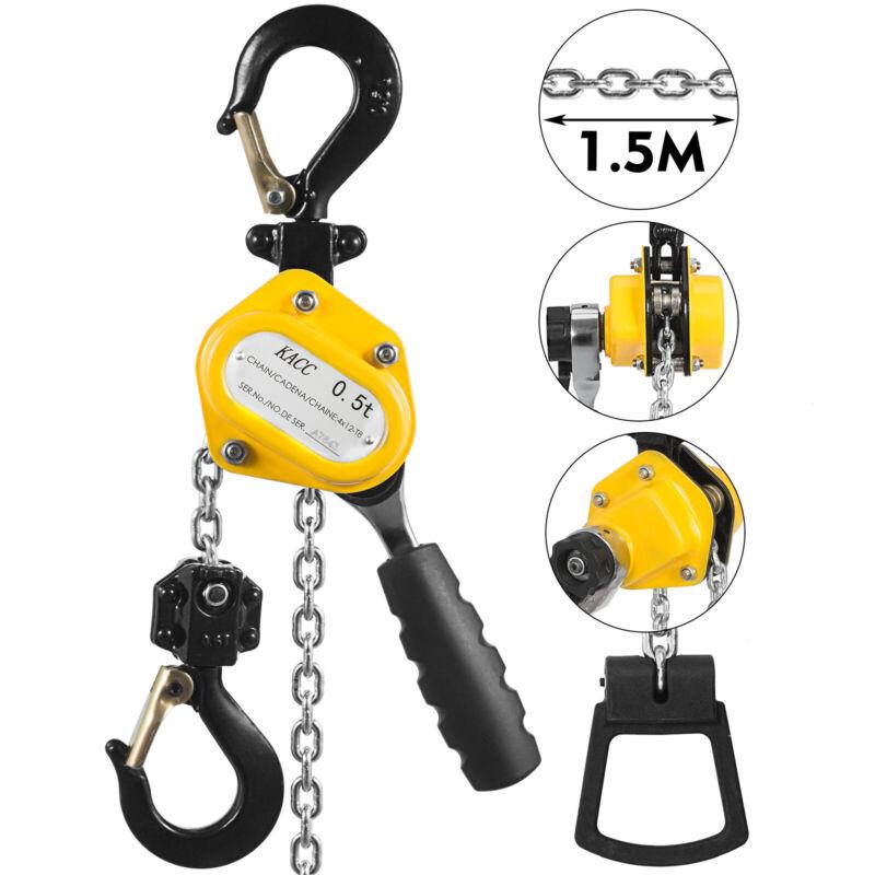 Mini Lever Chain Hoist Versatile Efficient Mines 1100Lbs 5Ft Mini Chain Hoist