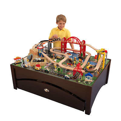 Metropolis Train Table - KidKraft Metropolis Train Set Table with Trundle Drawer - 17935 *BRAND NEW*