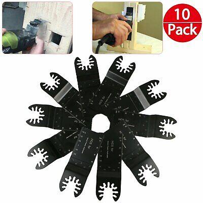 10pcs Universal 34mm Oscillating Multi Tool Saw Blades Carbon Steel Cutter Diy