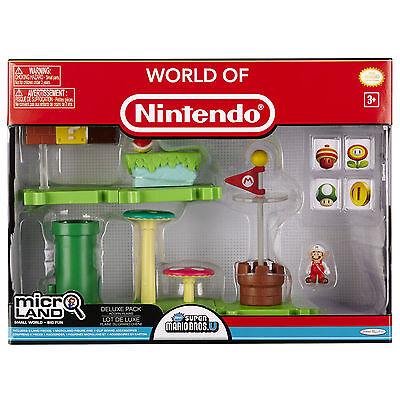 Nintendo Super Mario Bros U Micro Land Acorn Plains DELUXE Pack-POPULAR!